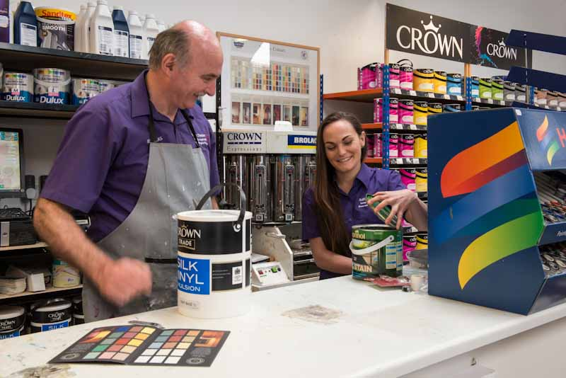 Crown and Dulux paint mixing systems