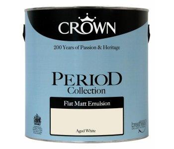 Crown Period Flat Matt Aged White 2 5l Ruthin Decor