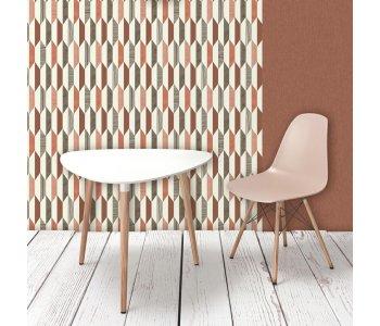 Muriva J20505 Terracotta Brown Diamond Wallpaper Roll