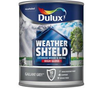 Dulux Weathershield Gloss Gallant Grey 750ml Ruthin Decor